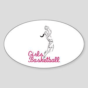 Girls Basketball Sticker
