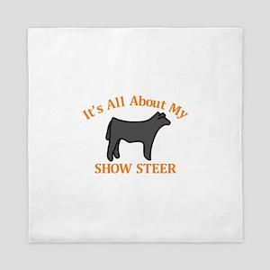 Show Steer Queen Duvet