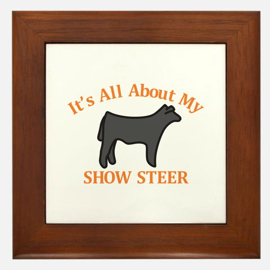 Show Steer Framed Tile