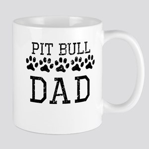 Pit Bull Dad (Distressed) Mugs