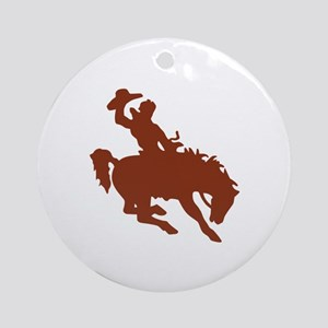 Bronco with Rider Ornament (Round)