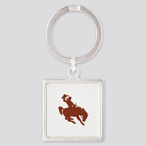 Bronco with Rider Keychains