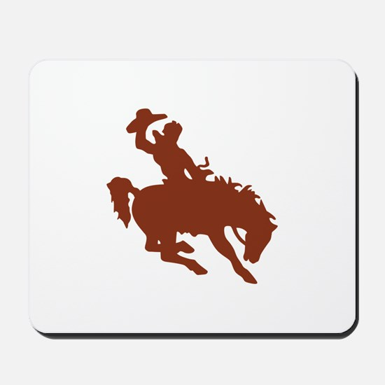 Bronco with Rider Mousepad