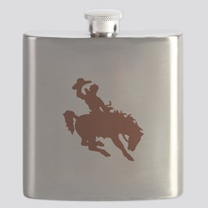 Bronco with Rider Flask