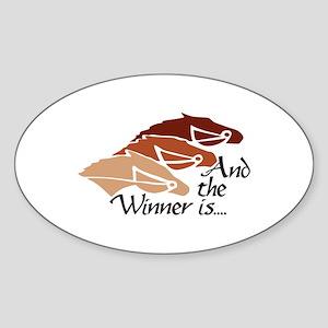 The Winner Is Sticker