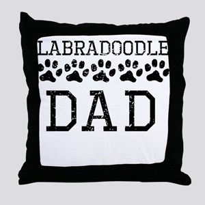 Labradoodle Dad (Distressed) Throw Pillow
