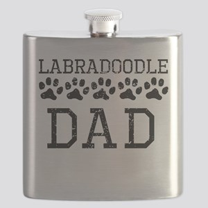 Labradoodle Dad (Distressed) Flask