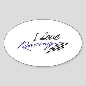 I Love Racing Sticker