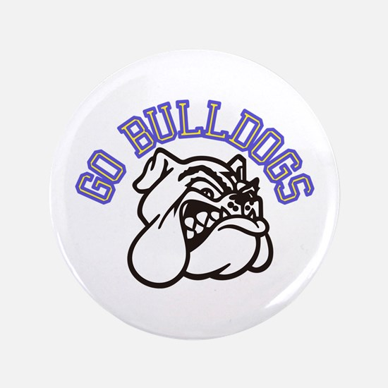 Go Bulldogs (with border) Button