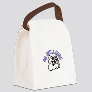 Go Bulldogs (with border) Canvas Lunch Bag
