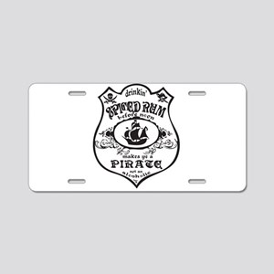 Vintage Pirate Spiced Rum Aluminum License Plate
