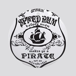 Vintage Pirate Spiced Rum Ornament (Round)