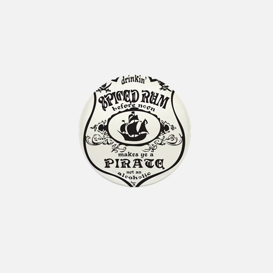 Vintage Pirate Spiced Rum Mini Button