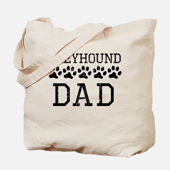 Greyhound Dad (Distressed) Tote Bag