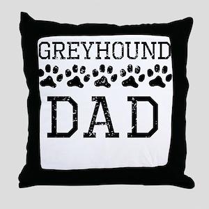 Greyhound Dad (Distressed) Throw Pillow