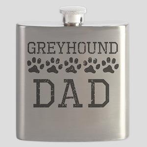 Greyhound Dad (Distressed) Flask