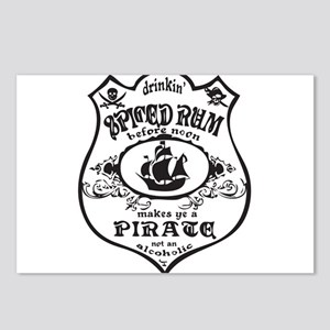 Vintage Pirate Spiced Rum Postcards (Package of 8)