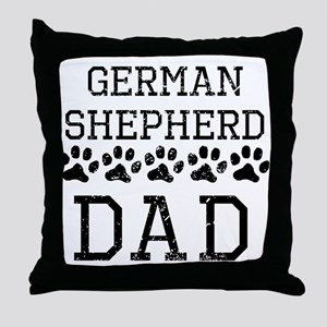 German Shepherd Dad (Distressed) Throw Pillow