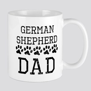 German Shepherd Dad (Distressed) Mugs