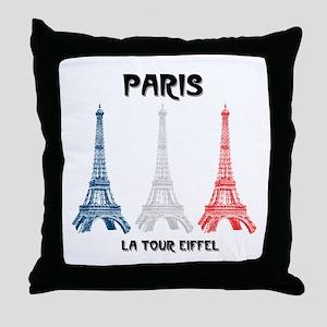 Paris Eiffel Tower Throw Pillow