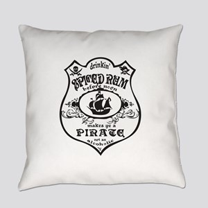 Vintage Pirate Spiced Rum Everyday Pillow