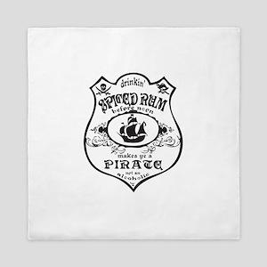 Vintage Pirate Spiced Rum Queen Duvet