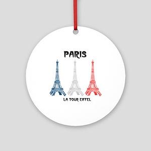 Paris Eiffel Tower Ornament (Round)