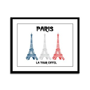 Paris Eiffel Tower Framed Panel Print