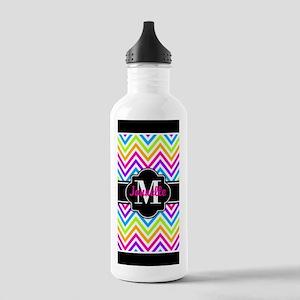 Black Trin Neon Chevro Stainless Water Bottle 1.0L