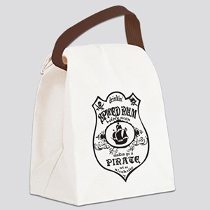 Vintage Pirate Spiced Rum Canvas Lunch Bag