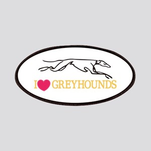 I Love Greyhounds Patch