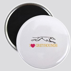 I Love Greyhounds Magnets