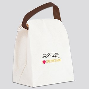 I Love Greyhounds Canvas Lunch Bag