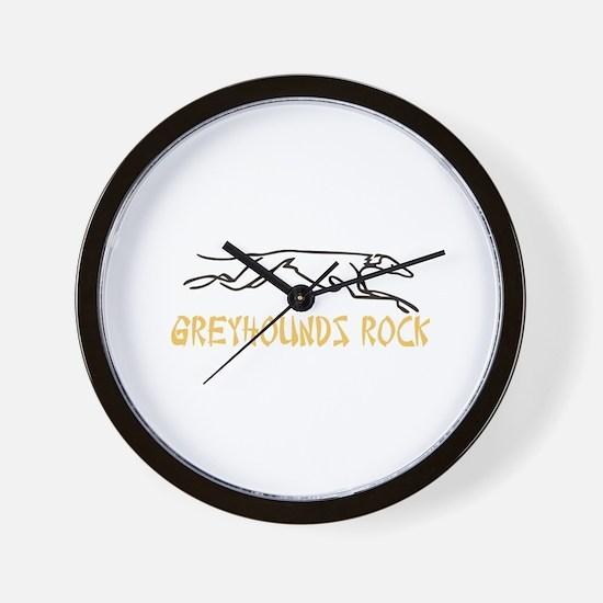 Greyhounds Rock Wall Clock