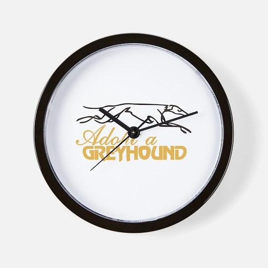 Adopt a Greyhound Wall Clock
