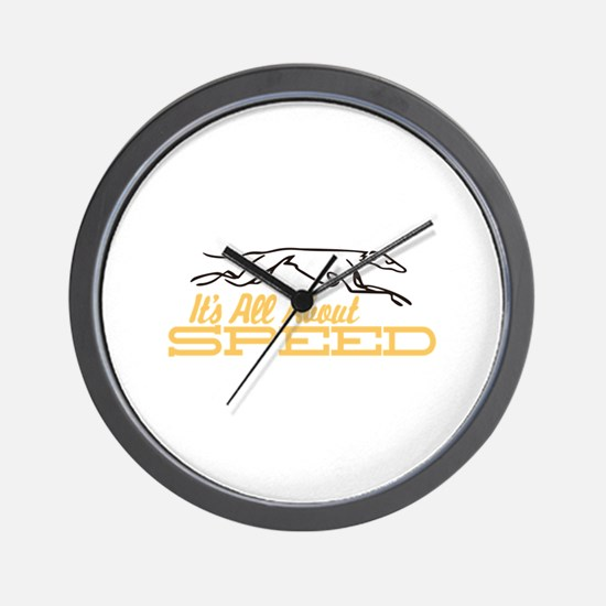 All About Speed Wall Clock