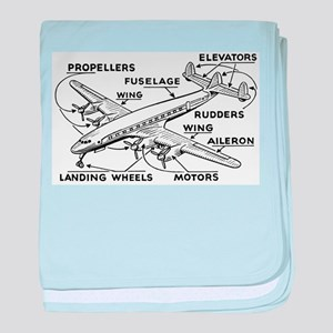 Airplane baby blanket