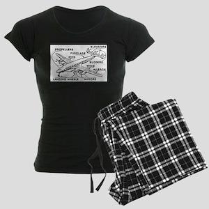 Airplane Women's Dark Pajamas