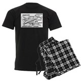 Airplane Men's Dark Pajamas