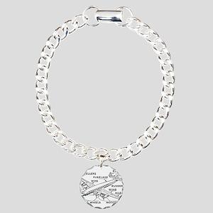 Airplane Charm Bracelet, One Charm