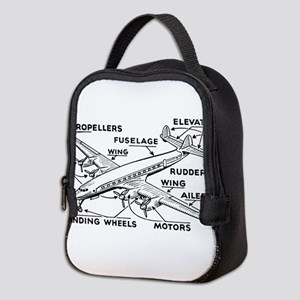Airplane Neoprene Lunch Bag