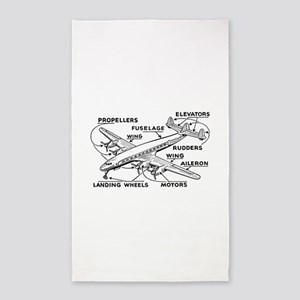 Airplane Area Rug