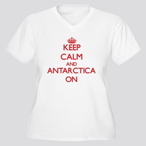 Keep Calm and Antarctica ON Plus Size T-Shirt
