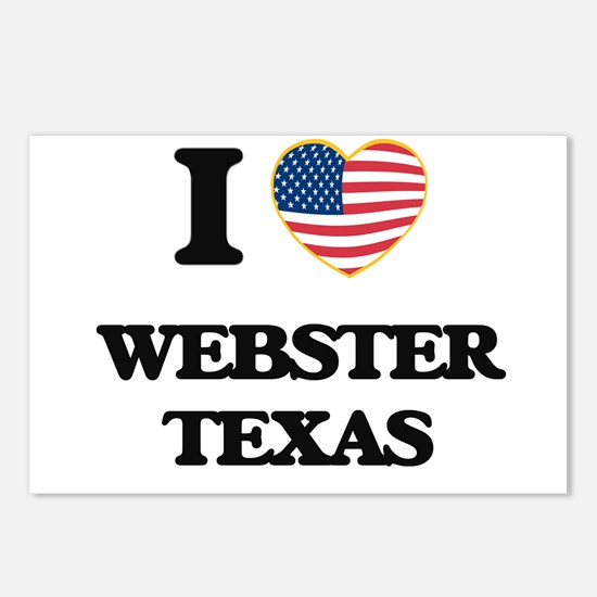I love Webster Texas Postcards (Package of 8)