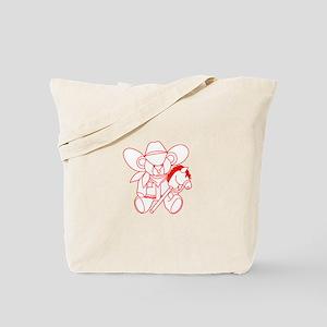 Cowboy Bear Ragwork Tote Bag