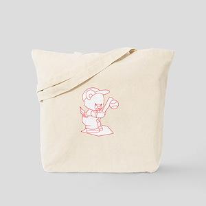 Baseball Bear Ragwork Tote Bag