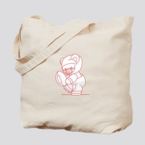 Football Bear Ragwork Tote Bag