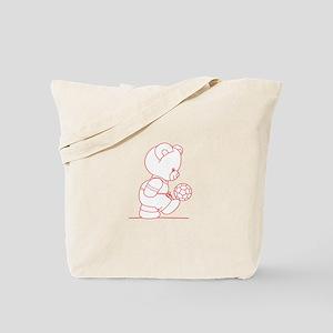 Soccer Bear Ragwork Tote Bag