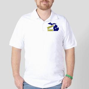 MICHIGAN BORN Golf Shirt