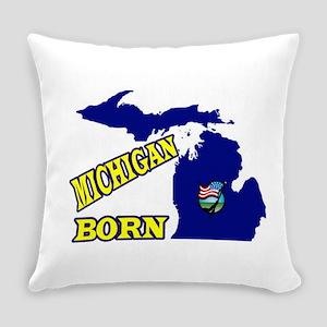 Michigan Born Everyday Pillow
